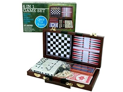 Kole Imports Travel Game Set, 6 in 1
