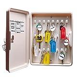 Lucky Line 24 Hook Locking Key Cabinet, Almond (61200)