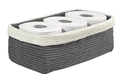 mDesign Knit Bathroom Storage Organizer