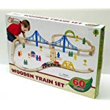 First Learning Wooden Train Set - 60 Pieces
