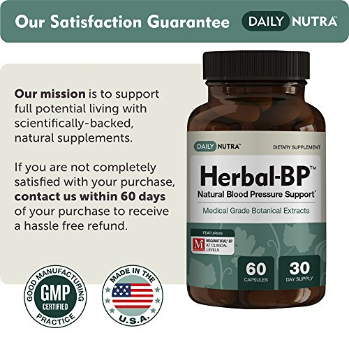 Herbal-BP Natural Blood Pressure Support with Stress Management - Medical Grade Botanical Extracts - Safe, Long-Term Support (3-Pack) by DailyNutra (Image #6)