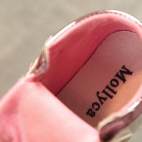 Jamicy® Kinderschuhe, Baby Jungen Mädchen Leder Herz Print LED Light Casual Sneaker Schuhe Rosa