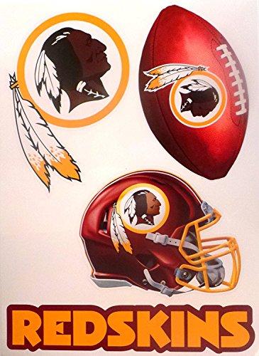 FATHEAD Washington Redskins Set of 4 Team Logo Helmet Sign Official NFL Vinyl Wall Graphics 15