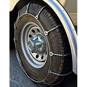amazoncom tirechaincom rlt  lt truck suv cable tire chains set   automotive