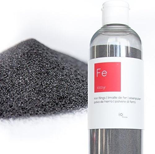 1kg hochwertigem Eisenpulver [Kostenlose Flasche mit Auslauf] - Eisenpulver für die Wissenschaften und Bildung - Erstellen Sie eine Mauer Magnetverschluss aus der Mischen mit der Malerei