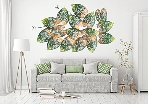 238edb5cb5 Collectible India Big Beautiful Metal LED Tree Leaf Wall Art Sculpture Wall  Decor and Hanging Size
