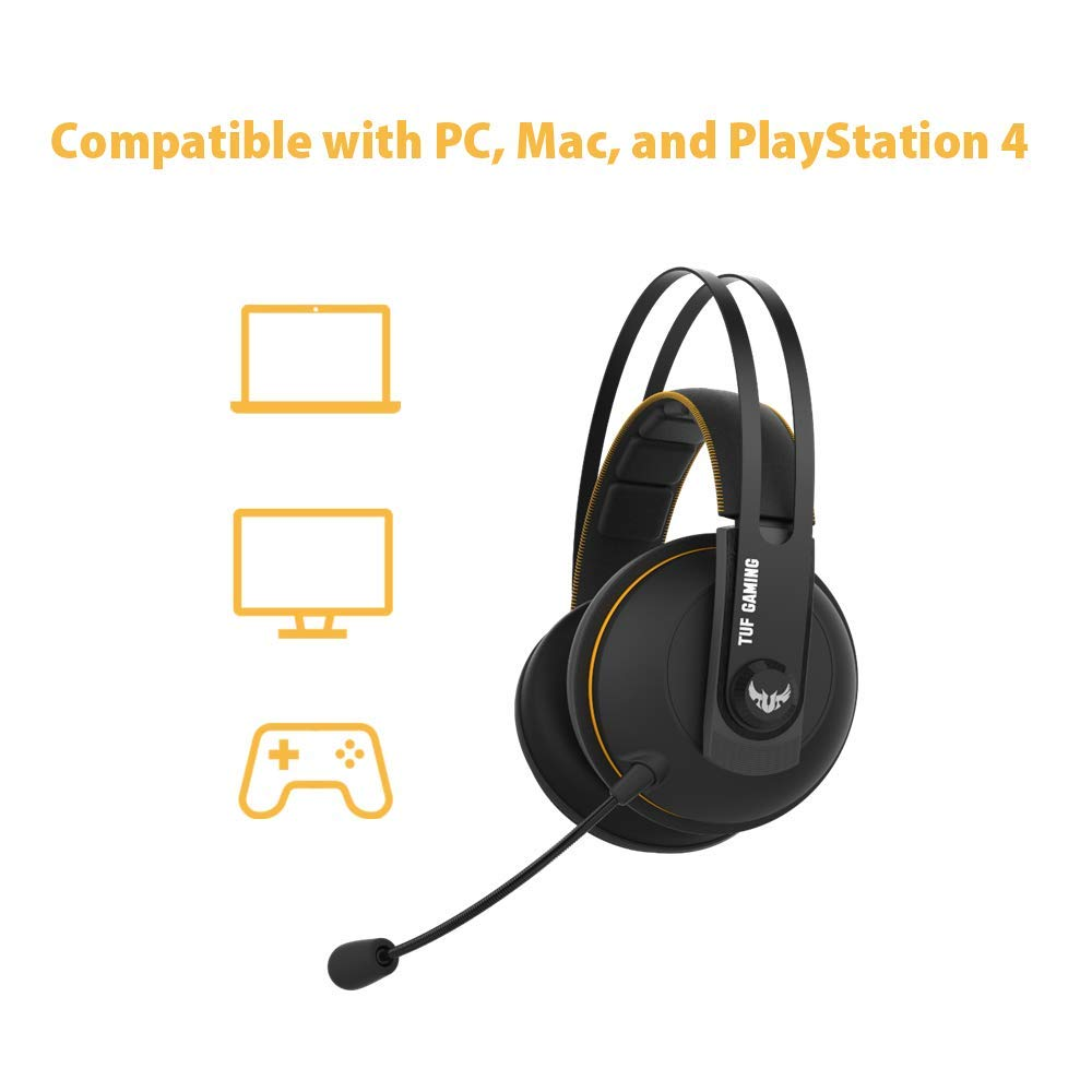 ASUS Jaune Casque Gaming ASUS TUF H7 Wireless 7.1 virtuel