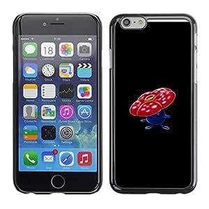 EJOY---Cubierta de la caja de protección la piel dura para el / Apple Iphone 6 Plus 5.5 / --Vileplume P0kemon