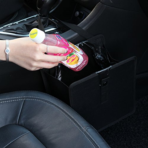 KMMOTORS Jopps Comfortable Car Garbage Bin Original Patented Portable Drive Bin Premium Hanging Wastebasket by...