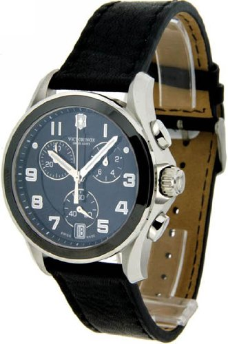 - Victorinox Swiss Army Chrono Classic Black Ceramic Bezel Mens Watch 241545