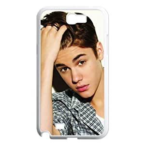 Popular Singer Justin Bieber Pattern Productive Back Phone Case For Samsung Galaxy Note 2 Case -Style-17