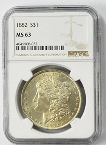 1882 P Morgan Silver Dollar Brilliant Uncirculated $1 MS63 NGC