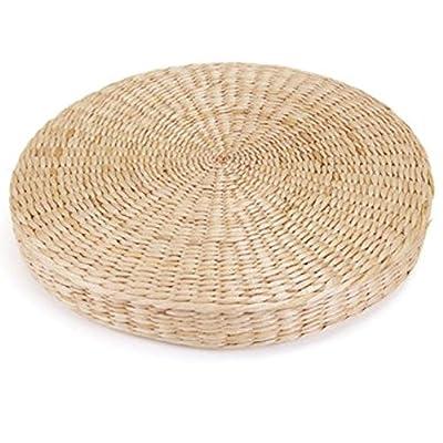 45 Cm Rond Pouf Tatami Coussin De Sol Coussins Naturel Paille Tapis