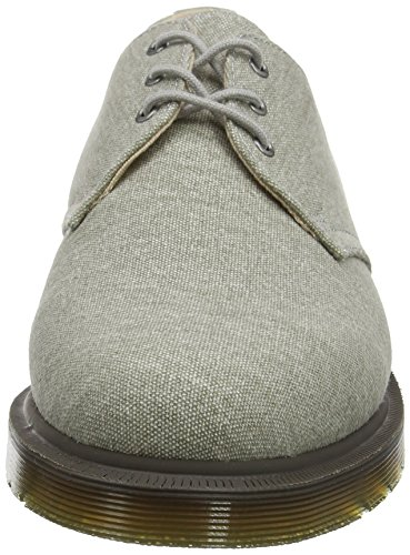 Dr. Martens Lester, Derby para Hombre Gris (Mid Grey Washed Canvas)