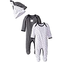 Burt's Bees Baby Set of 4 Coveralls & Hats, Blueberry, Preemie