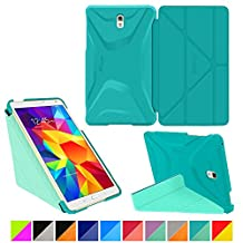 "roocase Samsung Galaxy Tab S 4 8.4 Case - Origami 3D [Turquoise Blue / Mint Candy] Slim Shell 8.4-Inch 8.4"" Smart Cover with Landscape, Portrait, Typing Stand"