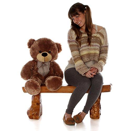 Sunny-Cuddles-30-Super-Cute-Huggablegiant-Teddy-Mocha-Colored-Plush-Bear