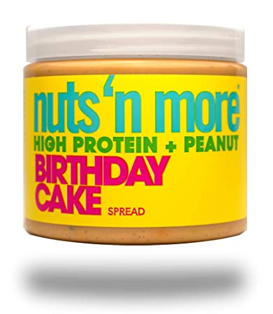 Nuts N More Birthday Cake Peanut Spread High Protein Nut Butter Snack Low