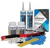 DIY Flexomeric Foundation Crack Repair Kit - Polyurethane Foam - Hairline to 1/16'' Wide Cracks - Low-Pressure Injection Method (FLEXKIT-200X)