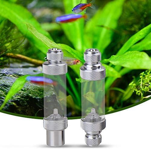 Aluminum Alloy CO2 Bubble CounterCheck Valve for Aquarium Carbon Dioxide Measurement Device Double Head