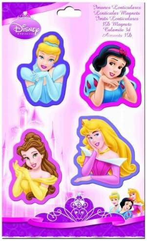Pack 4 Imanes Lenticulares Princesas Disney: Amazon.es: Bebé