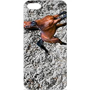 DIY Apple iPhone 5 Case Customized Gifts Personalized With Animals animals elegant horse 16801 White
