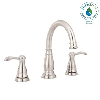 Delta Porter 8 Inch Widespread 2 Handle Bathroom Faucet Brushed