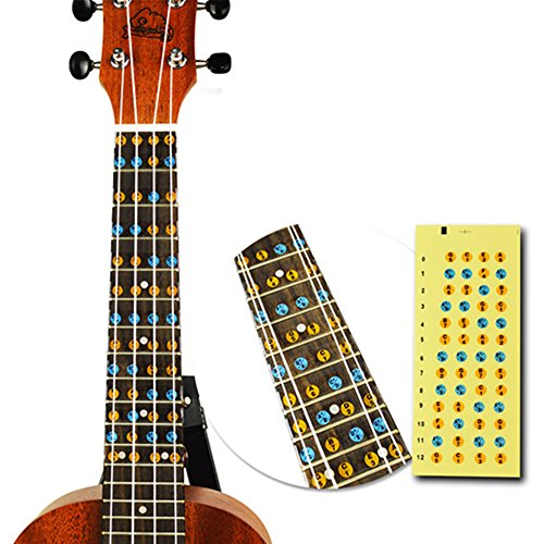 Guitar Parts & Accessories Lovely Ukulele Fretboard Note Map Sticker Fingerboard Frets Decals For Beginner Practice Sports & Entertainment