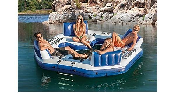 INTEX Hinchable Isla Flotante balsa 4 Persona Río Lago Ocean ...