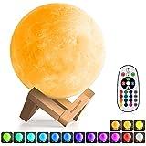 3D Moon Lamp (Diameter 5.9 inch), Morpilot 16 Colors...
