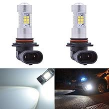 KaTur Super Bright 9006 HB4 LED Fog Bulb Daytime Lights Car DRL Driving Lamp 2835 21SMD Led Car Driving Daytime Running Lights Xenon White 6000K DC 12V 10.5W (Pack of 2)