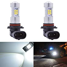 KaTur Super Bright 9005/HB3 DRL Fog Light Replacement 2835 21SMD Led Car Driving Daytime Running Lights Xenon White 6000K DC 12V 80W 2-Pack
