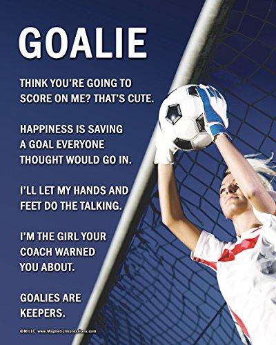 Unframed Soccer Goalie Female 8 x 10 Poster Print
