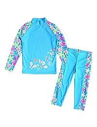 BAOHULU Girls Swimsuit Two-Piece Tankini UPF 50+ UV Protective, 3-12 Years
