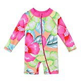 HUANQIUE Baby/Toddler Girl Swimsuit Long Sleeve