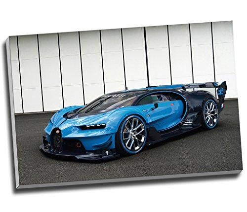 (Bugatti Vision Gran Turismo Hypercar Super Car Canvas Print Wall Art Picture Canvas Prints Large A1 30 X 20 Inches (76.2Cm X 50.8Cm))