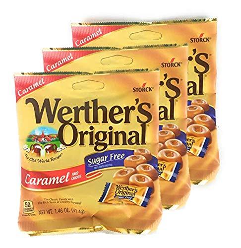 (Werther's Original Hard Candies, Sugar Free Caramel, 1.46 Ounce ( 3 bags - packs))