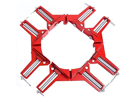 0 Degrees Right Angle Clamp 100mm Aluminium alloy Corner Clamp Picture Holder Woodworking Holder (Right Angle Jaws)