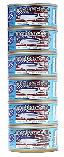 - AMERICAN TUNA Smoked Albacore Tuna in Olive Oil, 6 OZ