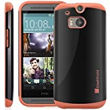 GreatShield® HTC One (M8) Case [NEON] Protective Hybrid Case Cover for HTC One (M8) 2014 (Orange)