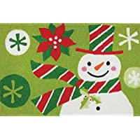 Jellybean Rug - Snowman with Striped Hat & Scarf