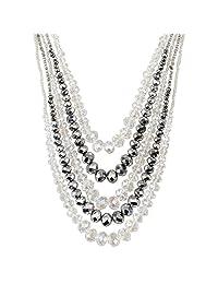 lureme®Fashion Sweet Crystal Beaded Necklace(01003940)