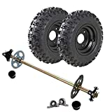 ZXTDR 4.10-6 Tires With Rim & Go Kart Rear Axle Assembly Complete Wheel Hub Kit for Mini Kids ATV Quad Buggy