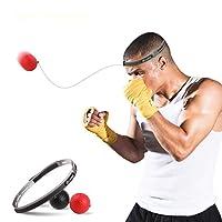 Reflex Punching Ball,CoWalkers Boxeo Fight Ball Reflex para mejorar las reacciones de velocidad y la coordinación de la mano con los ojos, Boxing Punch Equipo para el entrenamiento de boxeo, MMA y otros deportes de combate y Fitness