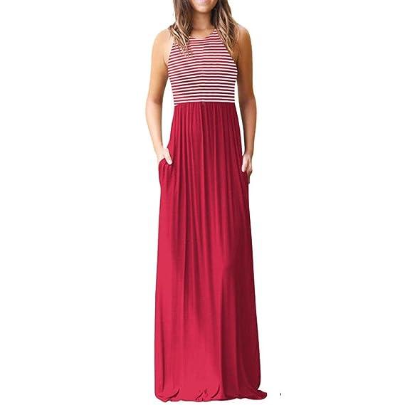 Vestidos Mujer Verano 2018,Mujer Bohemia Maxi verano playa larga cóctel fiesta vestido floral LMMVP (S, J): Amazon.es: Belleza