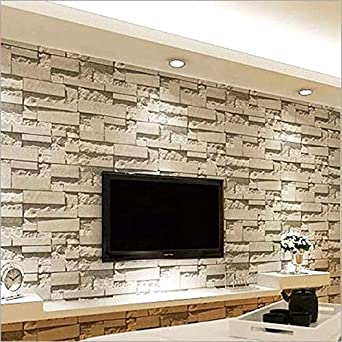 Luxury 10mx0 53m Pvc Modern Stone Brick 3d Wallpaper Diy Living Room Bedroom Mural Roll Wall Background Home Decor Amazon Com Industrial Scientific