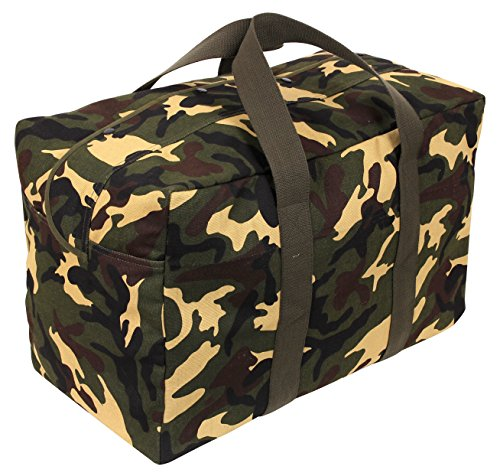 Rothco Canvas Parachute Cargo Bag, Woodland Camo