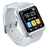 U80 Smart Watch Bluetooth 4.0 for Sports & Health Anti-lost Wrist Wrap Watch Phone Mate for Smartphones IOS Android Apple iphone 5/5C/5S/6/6 Puls(White)