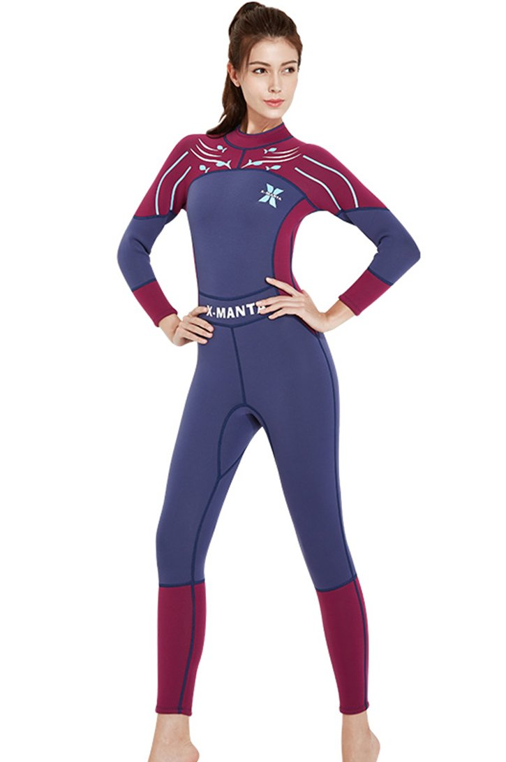 389dfb651577b7 Micosuza Damen Neoprenanzug Lang 3MM Full Longsuit Surfanzug UV ...