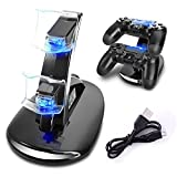 AYAMAYA Dual PS4 Slim Gaming Controller LED Charging Stand USB Charger Dock Station Cradle for Sony Playstation 4 For Sale